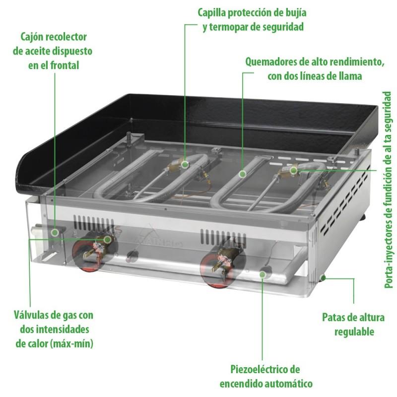Plancha de asar a gas mainho mhne 80 - Plancha para cocina de gas ...