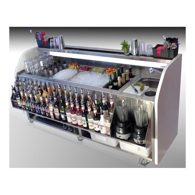 Barra cockteleria bartender180 exterior en acero inoxidable - Mostradores de bar ...