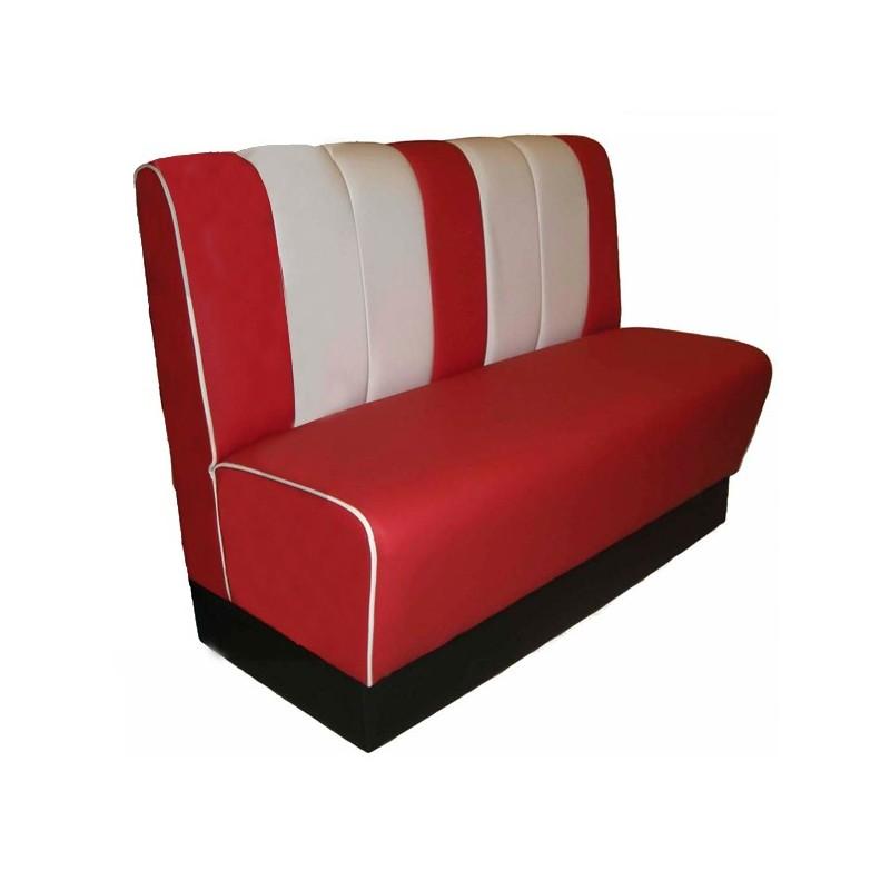 Sof retro estilo america a os 50 sidiner bancada tapizada for Sofa respaldo alto