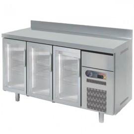 Frente mostrador refrigeración puertas cristal COFSRV200