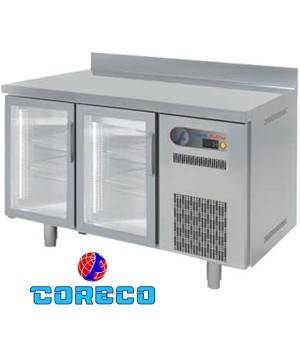 Mesa fría snack puertas cristal COTSRV150 (149.5 x 60 cm)