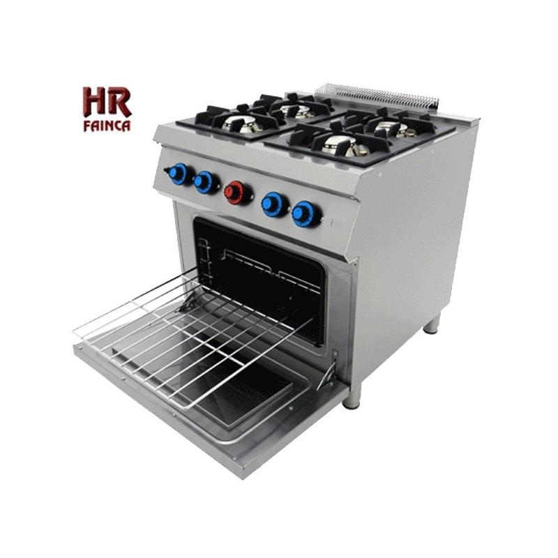 cocina industrial de 4 fuegos hrc4f750h