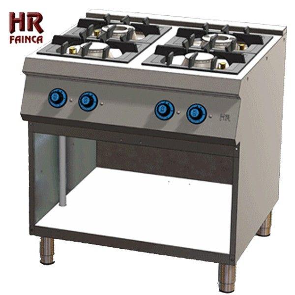 Cocina industrial de 4 fuegos hrc4f750e estante for Cocina 6 fuegos industrial