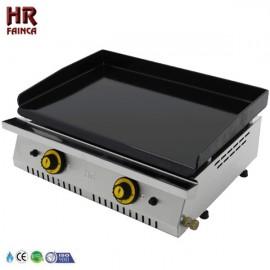 Plancha a gas industrial vitrificada HRPLC600V