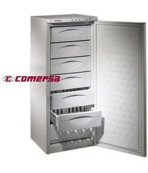 Congelador vertical de 7 cajones con puerta blanca CMCV240