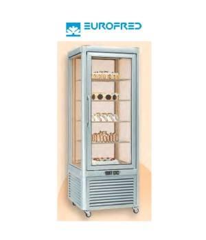 Expositor congelación 4 caras cristal estantes parrilla