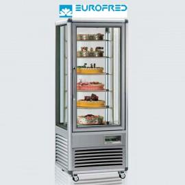 Expositor congelación 4 caras cristal 6 estantes parrilla