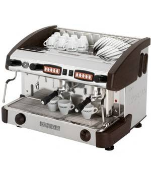 Máquina café profesional New elegance CONTROL 2 grupos Wengué