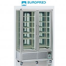 Expositor congelación 4 caras cristal 12 estantes rejilla