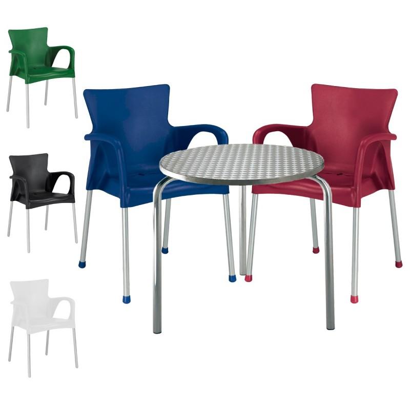 Mesa y sillas para terraza fashion3 conjunto 3sillas 1mesa for Mesa de terraza con quitasol
