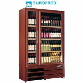 Expositor de vinos madera barnizada roble 600 litros