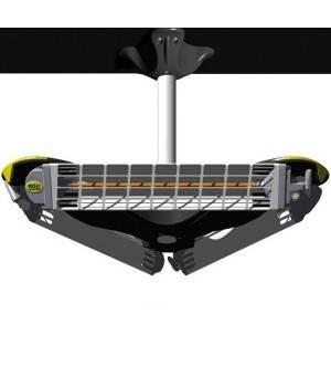 Calefactor eléctrico de techo por infrarrojos de 3600 W