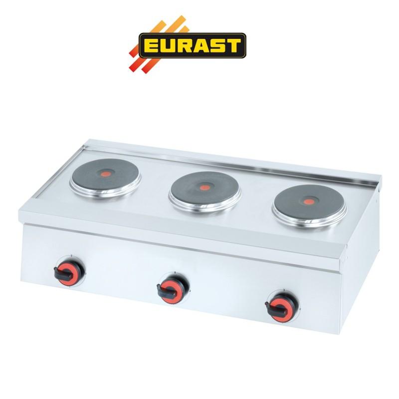 Hornillo el ctrico industrial et4483 con tres quemadores for Cocina industrial electrica