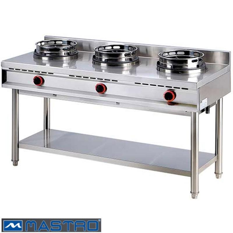 cocina wok de gas con estanter a 3 fogones mtaha0019