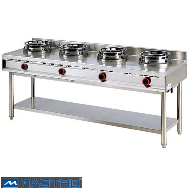 cocina wok de gas con estanter a 4 fogones mtaha0020