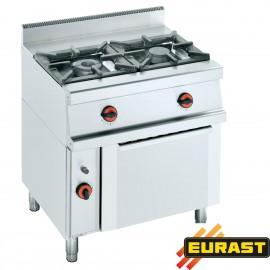 Cocina de gas fondo 60 de 2 fogonesy horno