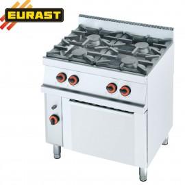 Cocina de gas fondo 60 de 4 fogonesy horno