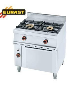 Cocina de gas fondo 60 de 2 fogones y horno
