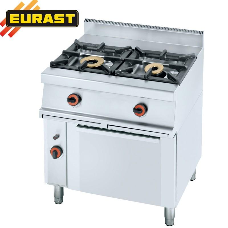 Cocina de gas fondo 60 de 2 fogones y horno et3303 for Fogones industriales a gas