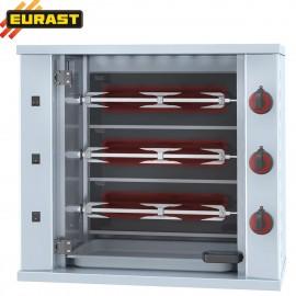 Asador de pollos vitrocerámico eléctrico (3 espada 9 pollos)