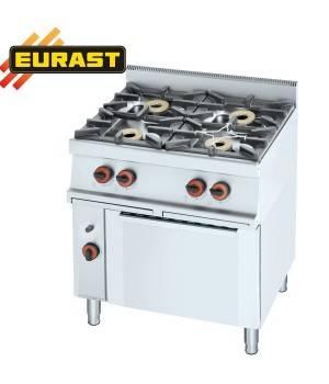 Cocina de gas fondo 60 de 4 fogones y horno