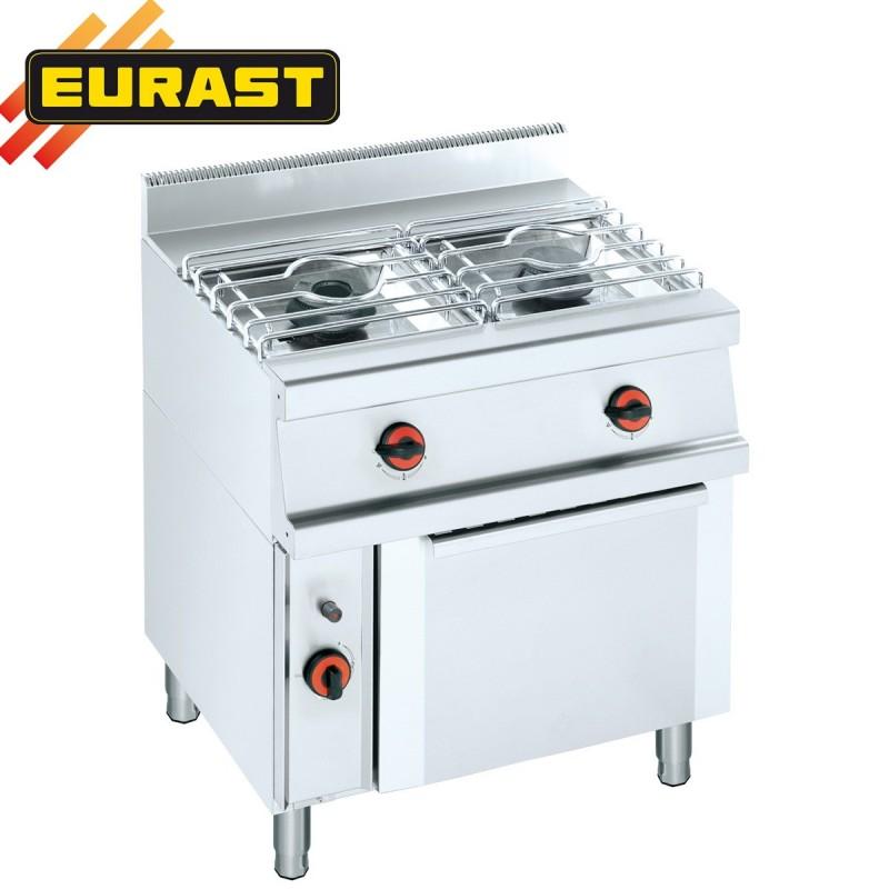 Cocina de gas fondo 60 de 2 fogones y horno ets21g for Fogones industriales a gas