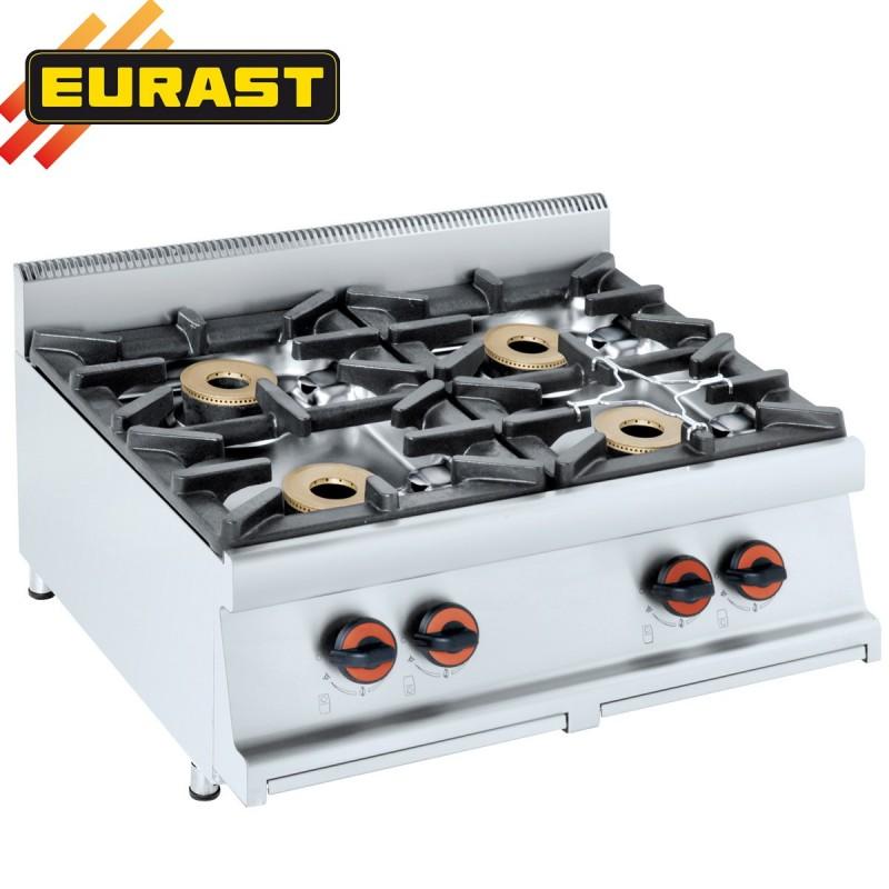 Cocina de sobremesa de 4 fogones 5 kw fondo 60 et3304 for Fogones industriales a gas