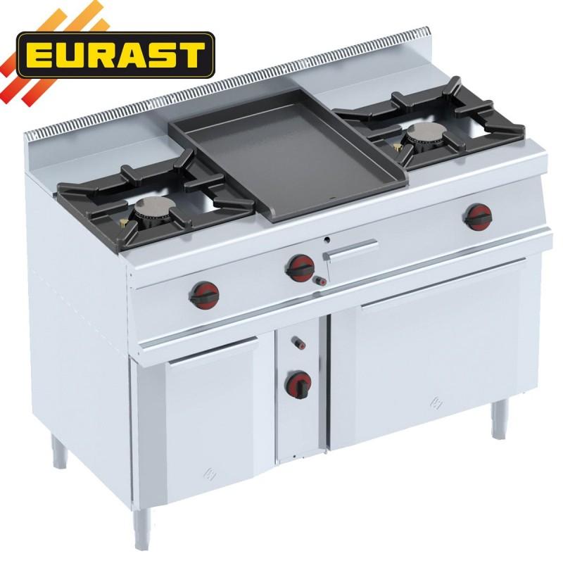 Cocinas 2 fogones con plancha y horno a gas con armario - Fogones a gas ...