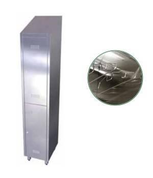 Taquilla de 2 puertas de acero inoxidable