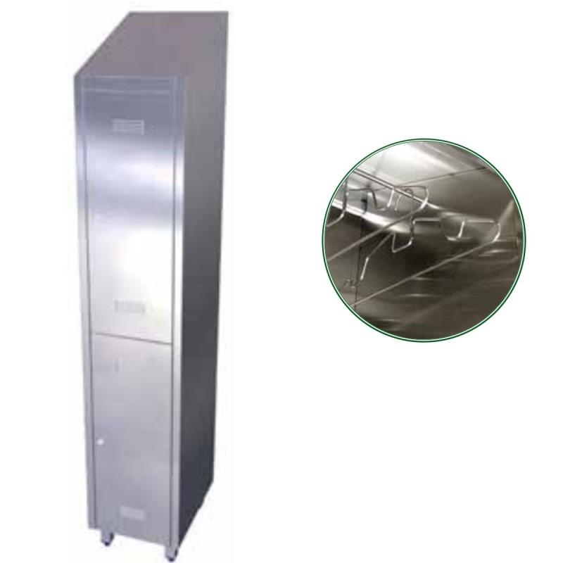 Taquilla de 2 puertas de acero inoxidable fr081410 for Puertas de acero inoxidable