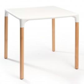 Mesas plasticas y mesa resina y combinada con aluminio for Mesa 70x70 madera