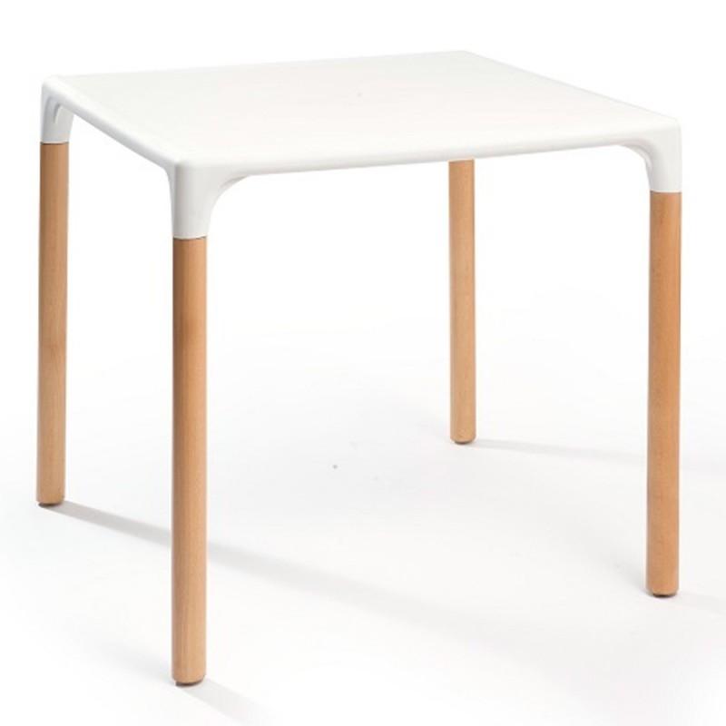 Mesa de hosteler a patas de madera isoliva madera - Patas regulables para mesas ...