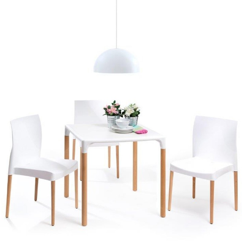 Mesa de hosteler a patas de madera isoliva madera - Patas de mesa de madera ...