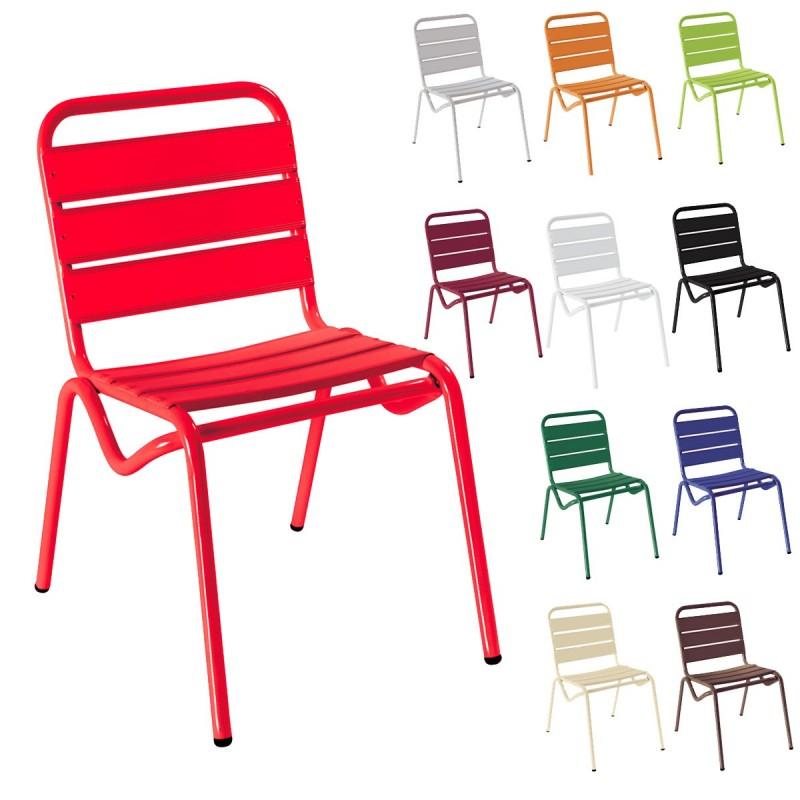 Silla de estructura de aluminio pintada isdan silla - Sillas para pintar ...