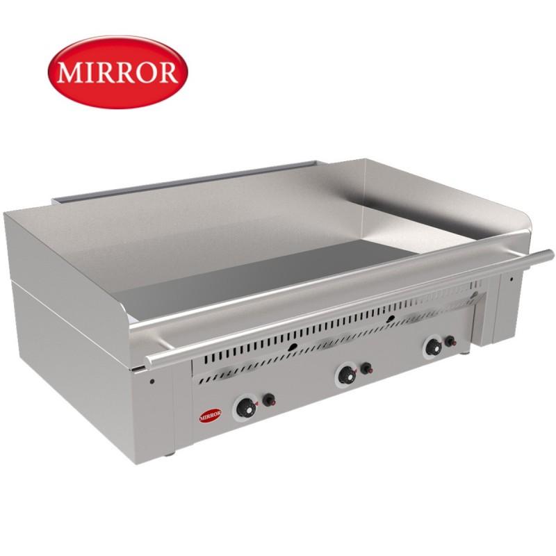 Plancha a gas gran tama o de hosteleria con placa de cromo - Plancha para cocina a gas ...