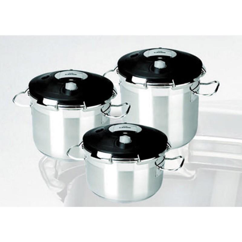 Olla a presi n luxe industrial 35 raciones de 22 litros for Ollas para cocina industrial