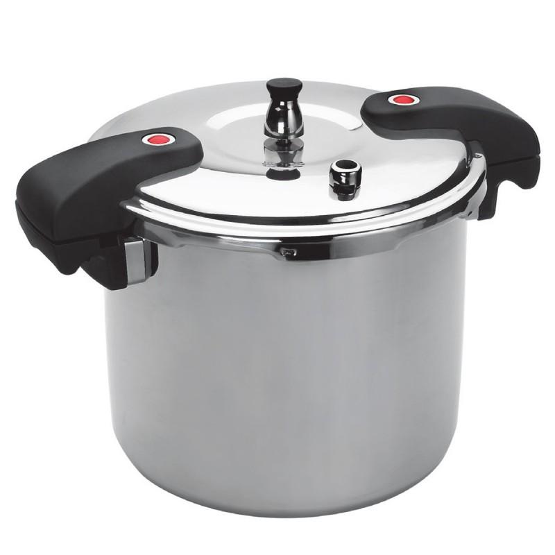 Olla a presi n de 20 litros para 30 raciones chef de acero for Cacerolas industriales