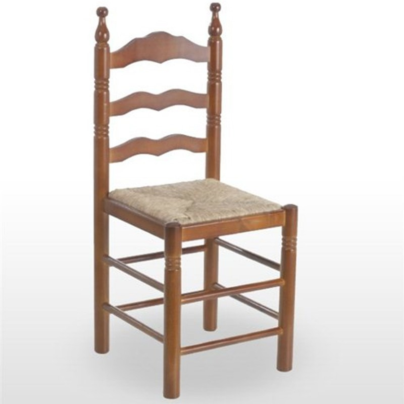 Silla de madera de pino para bares 1f481 asiento anea for Sillas madera baratas