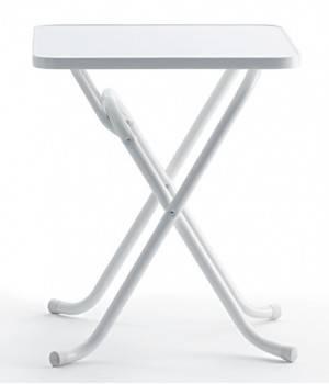 Mesa plegable IS LILY 60 x 60 x 71 blanca