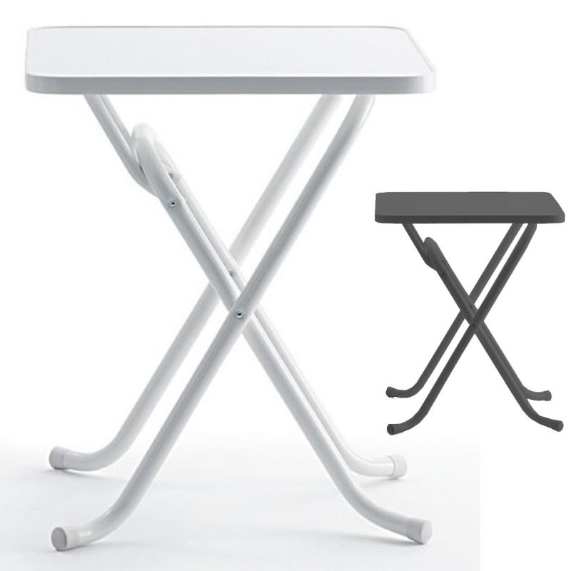 Mesa terraza personalizable islily 70x70 abatible for Mesa plegable plastico