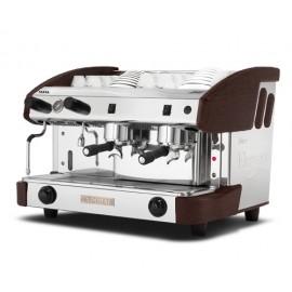 Máquina de café profesional New Elegance Mini Pulser 2 grupos madera