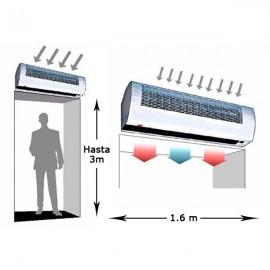 Cortina de aire ECIN-16 con calefacción