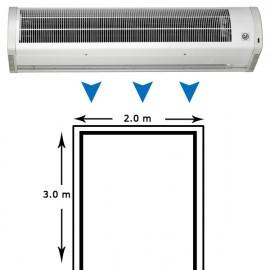 Cortina de aire AMCOR-F-2000 N de pared