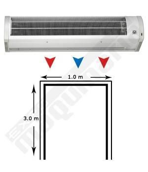 Cortina de aire AMCOR-6-1000 N para entrada