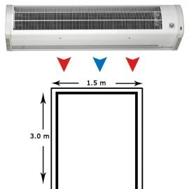 Cortina de aire AMCOR-9-1500 N climatización