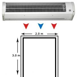 Cortina de aire AMCOR-18-2000 N entradas