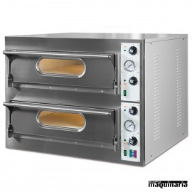 Horno pizza doble 8- Ø33 9.4 kw. NIGL939