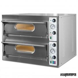 Horno pizza doble 12 - Ø 33 14.4 Kw NIGL941