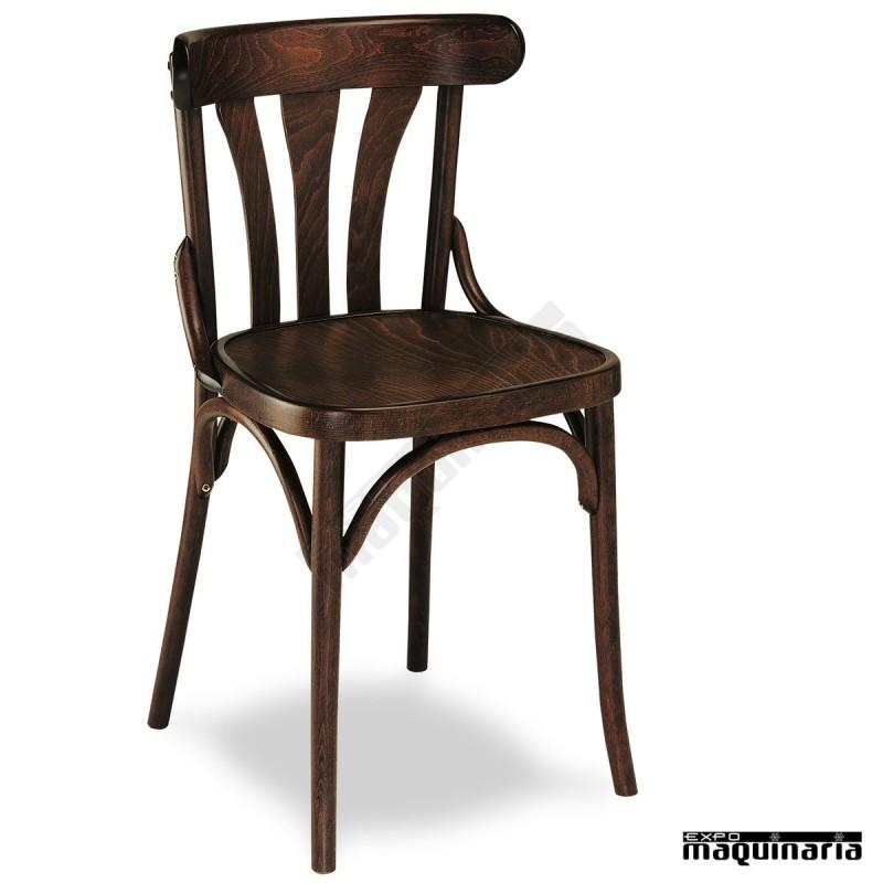 Silla para interior de madera 2r silla madera para bar 2r for Sillas para bar economicas