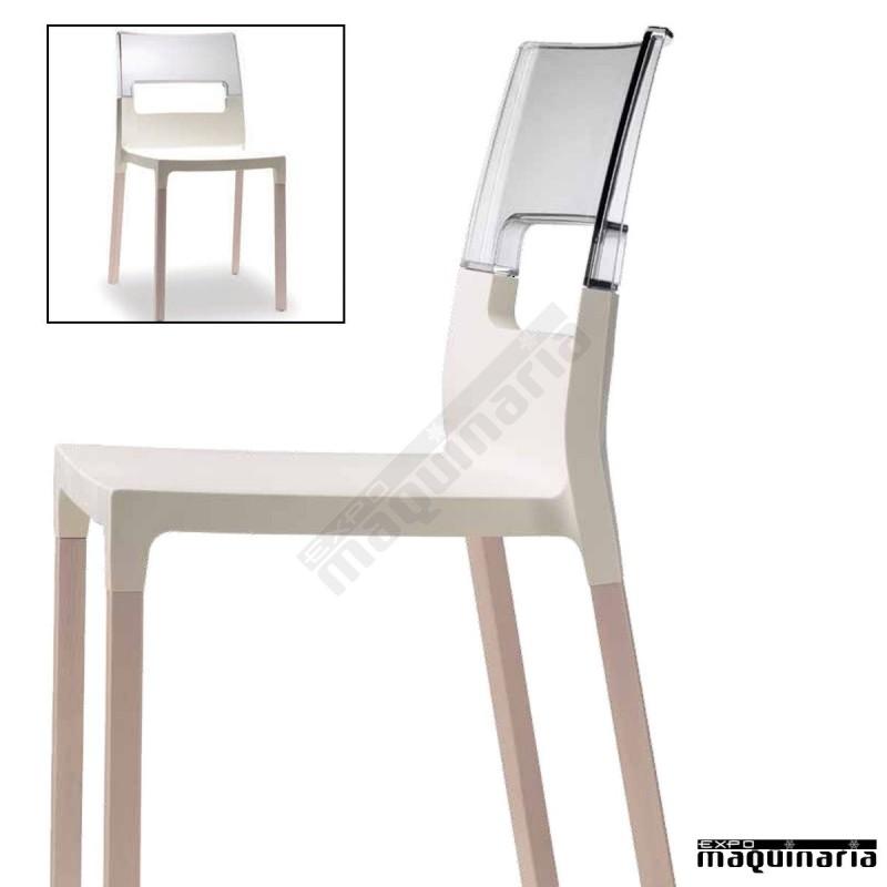 Silla interior madera de haya agdiva for Sillas madera cafeteria
